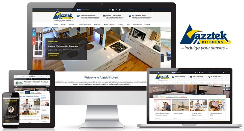 Azztek Kitchens Website