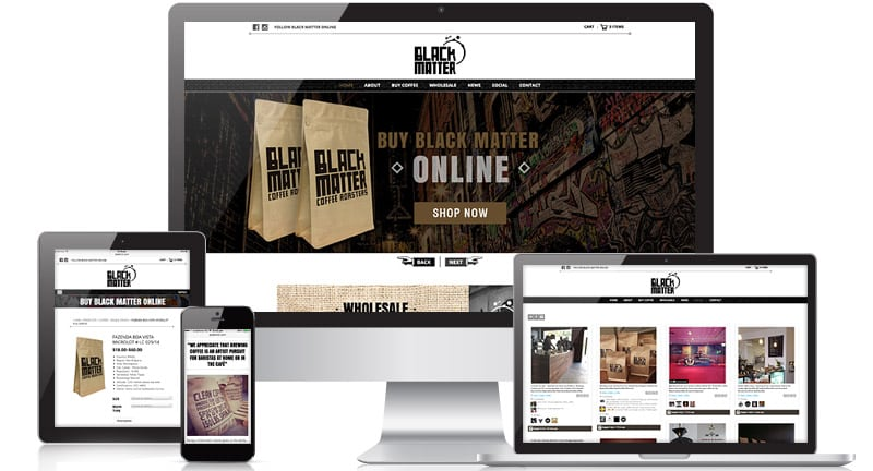 Black Matter Coffee Roasters Website